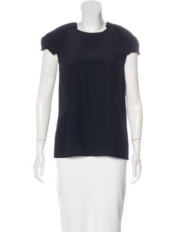 Stella McCartney Silk Short Sleeve Top w/ Tags None