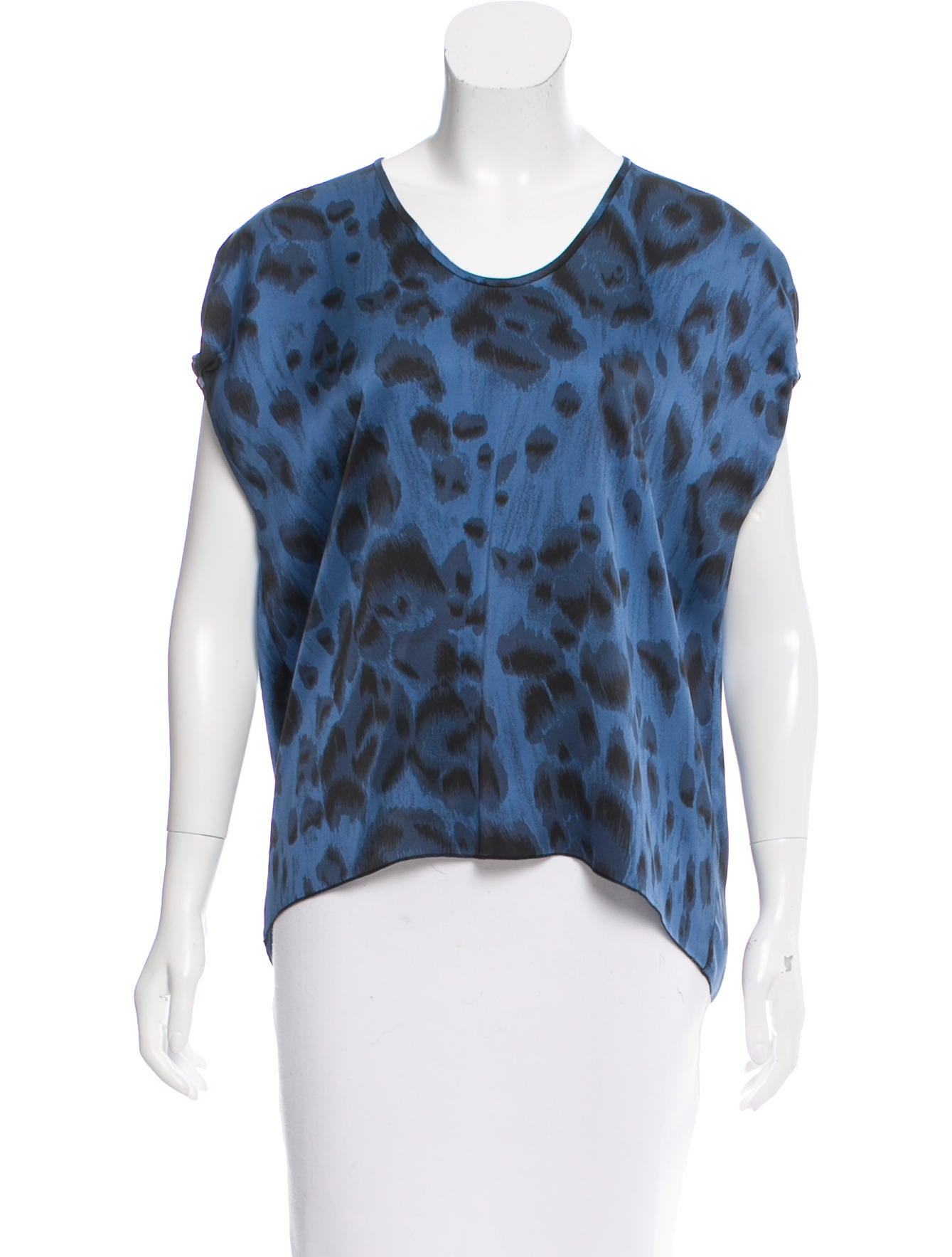 Women'S Short Sleeve Silk Blouse 89