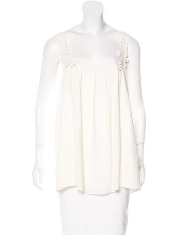 Stella McCartney Embroidered Sleeveless Top None