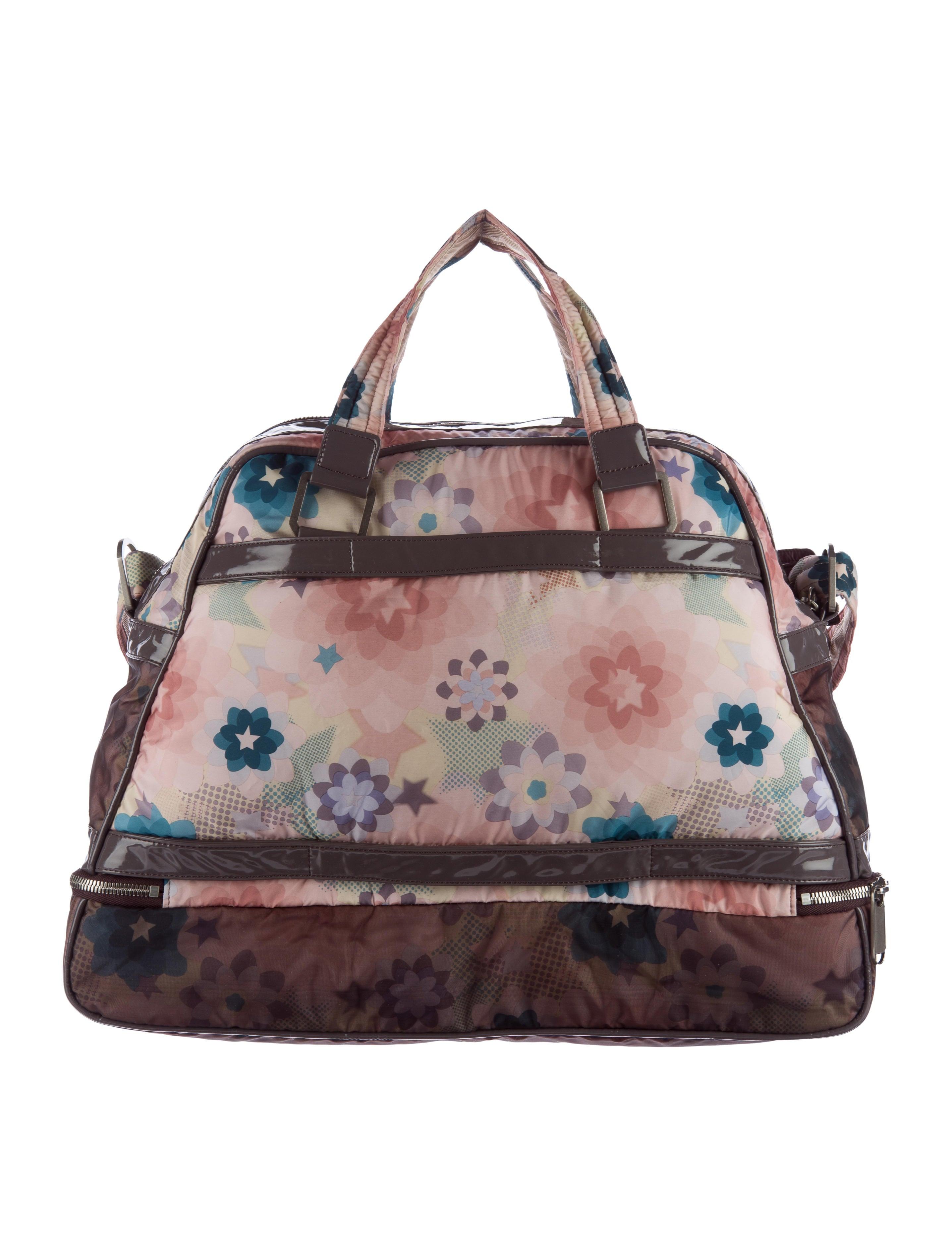 stella mccartney floral print nylon diaper bag handbags stl49395 the realreal. Black Bedroom Furniture Sets. Home Design Ideas