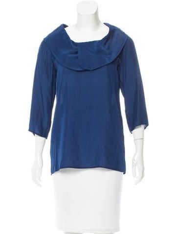 Stella McCartney Three-Quarter Sleeve Silk Top None