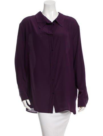 Stella McCartney Silk Button Up Top None