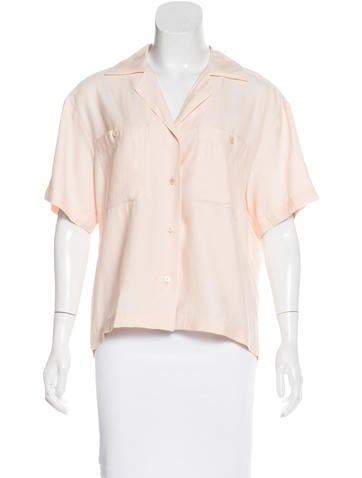 Stella McCartney Short Sleeve Button-Up Top w/ Tags None