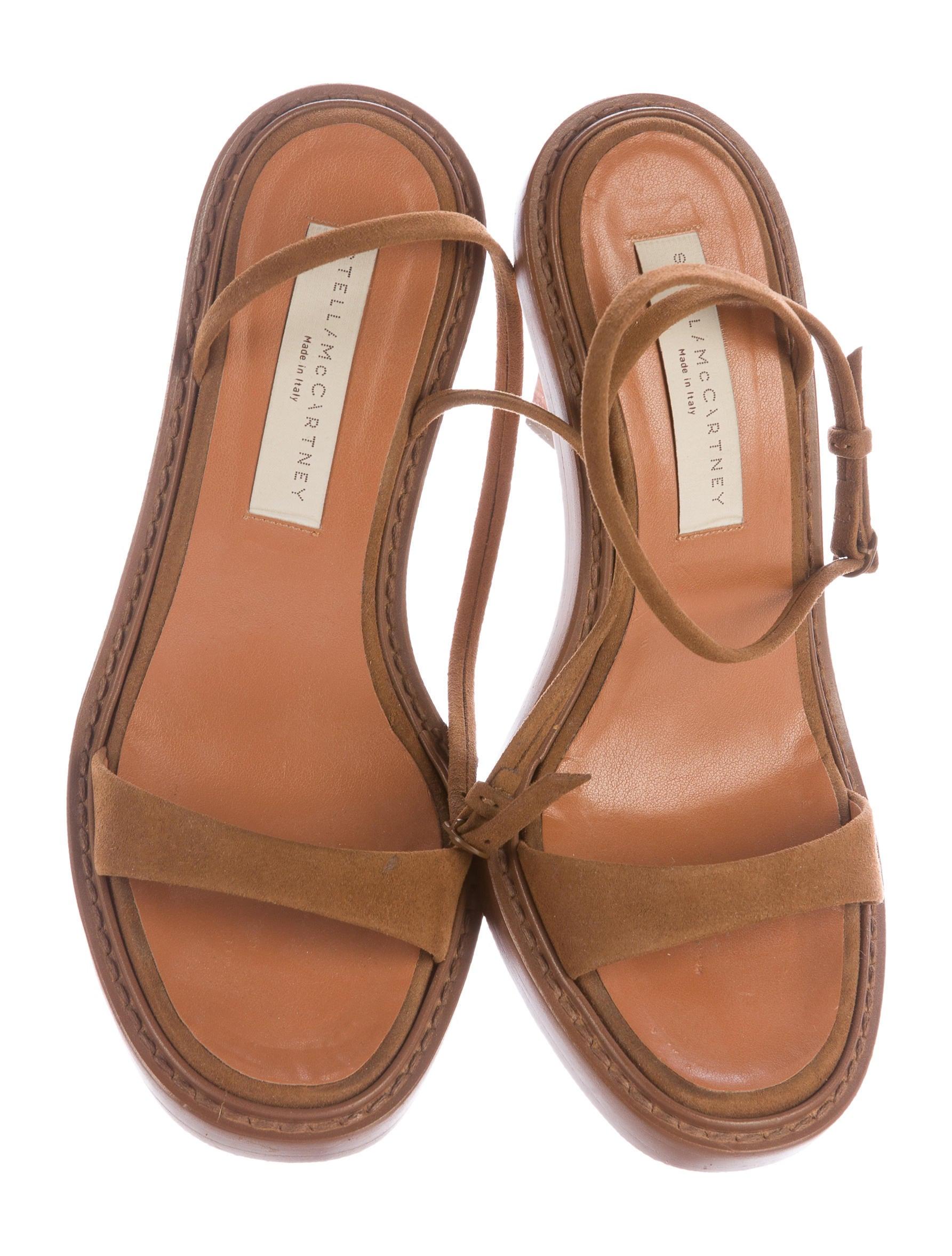 596817e3c4f Stella McCartney Vegan Suede Ankle Strap Sandals - Shoes .