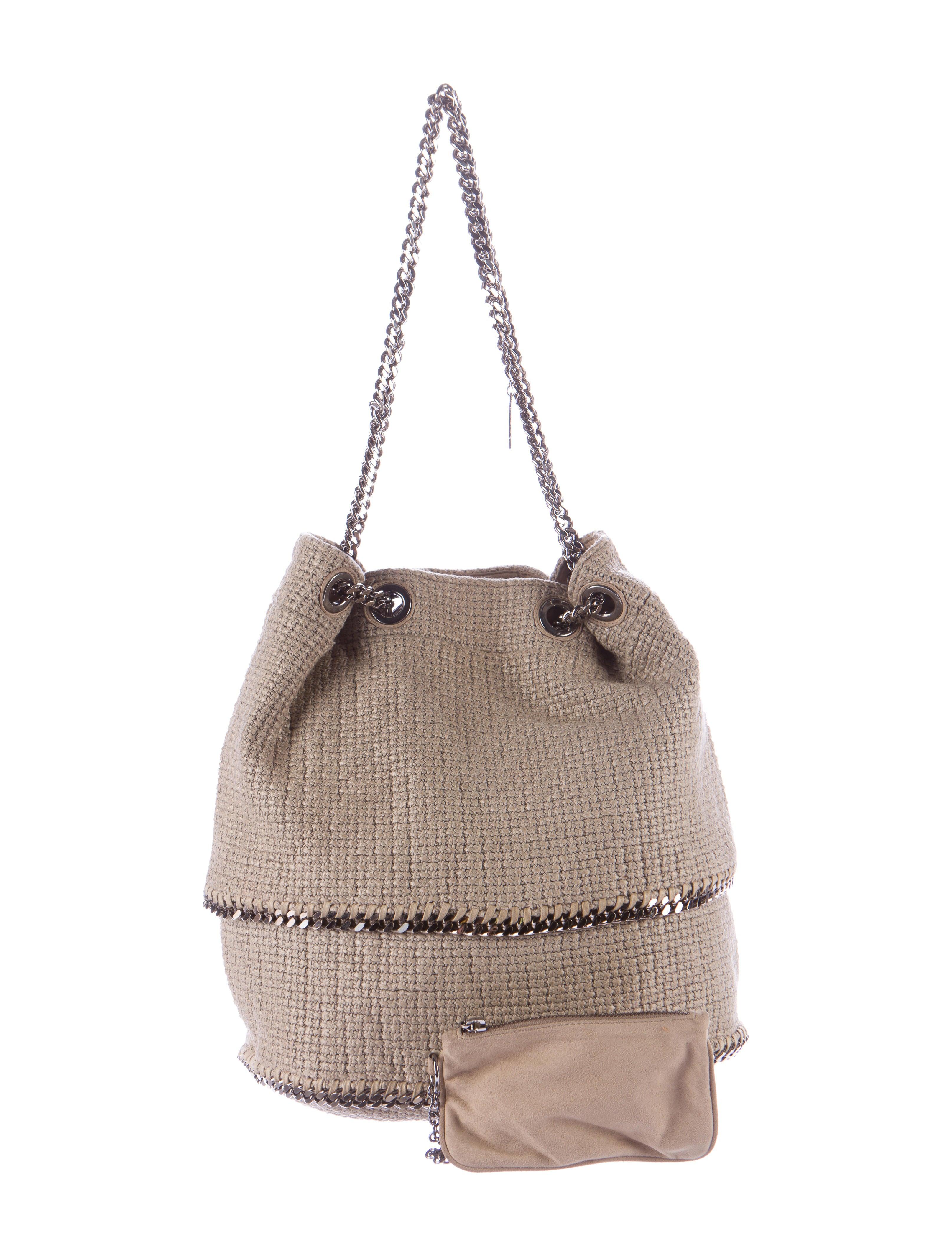 stella mccartney woven falabella shoulder bag handbags stl50203 the realreal. Black Bedroom Furniture Sets. Home Design Ideas