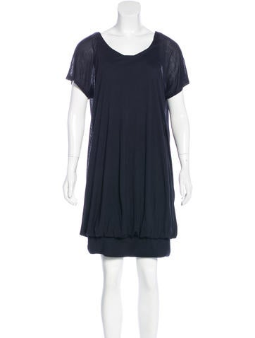 Stella McCartney Draped Short Sleeve Dress None