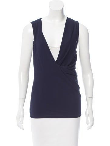 Stella McCartney Sleeveless Cowl Neck Top None