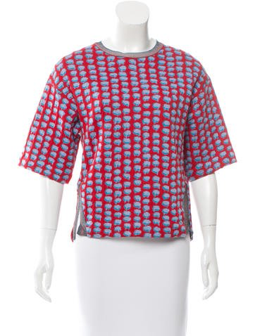 Stella McCartney Patterned Short Sleeve Top w/ Tags None