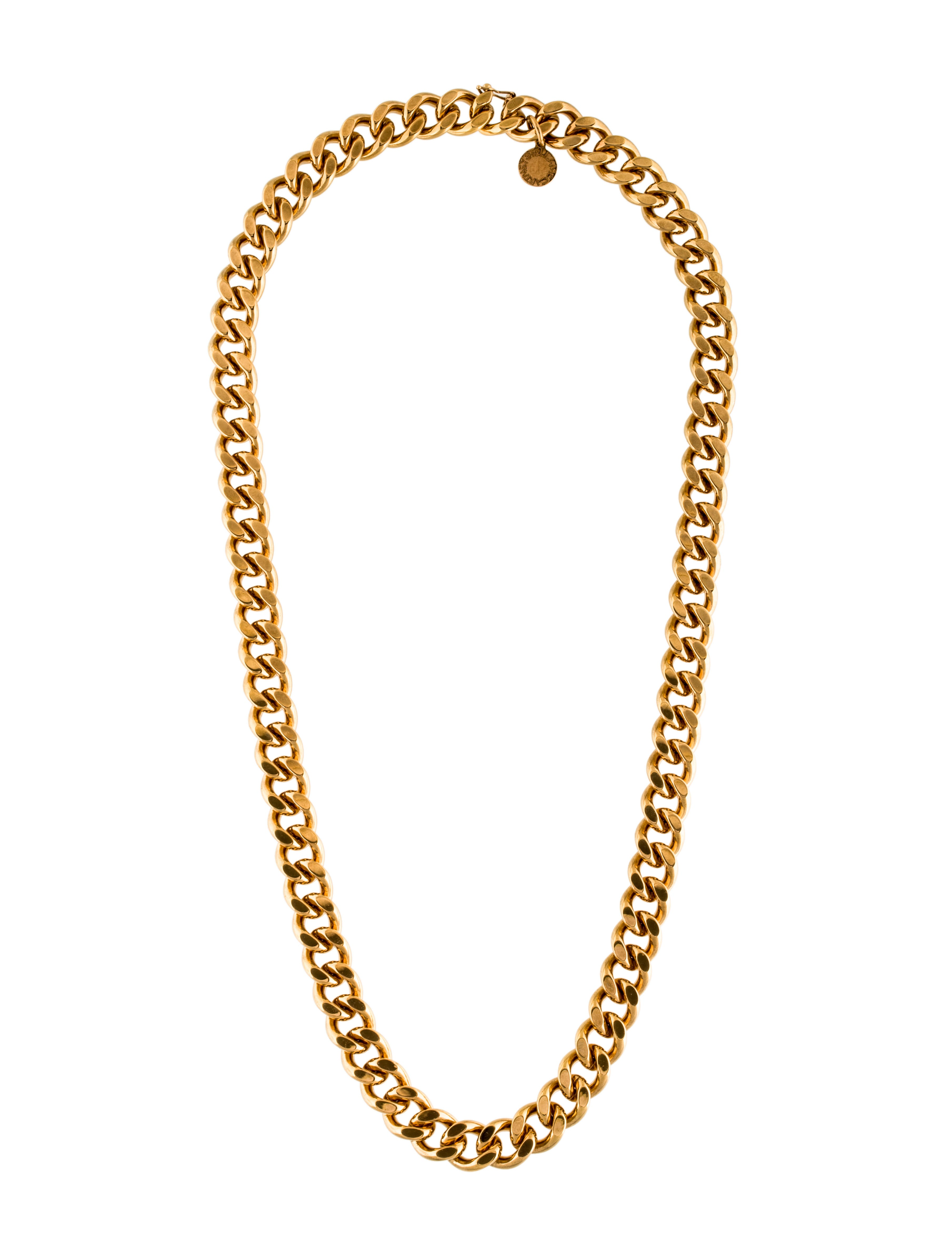 stella mccartney chunky curb chain necklace necklaces. Black Bedroom Furniture Sets. Home Design Ideas
