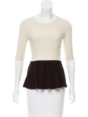 Stella McCartney Colorblock Peplum Top None