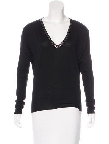 Stella McCartney Embellished Wool Sweater None