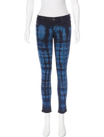Stella McCartney Mid-Rise Tie-Dye Print Jeans None