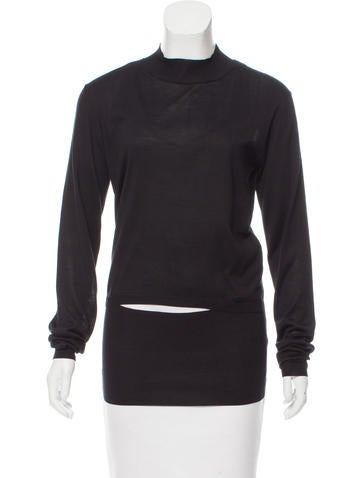 Stella McCartney Slit-Accented Silk Top w/ Tags None