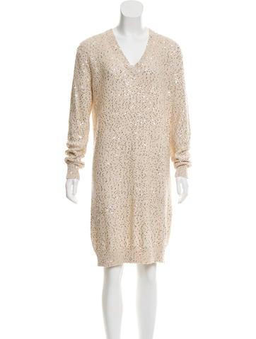 Stella McCartney Sequined Sweater Dress None