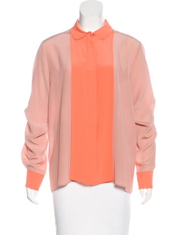 Stella McCartney Silk Button-Up Top w/ Tags None