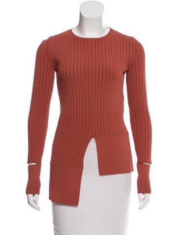Stella McCartney Long Sleeve Rib Knit Sweater None