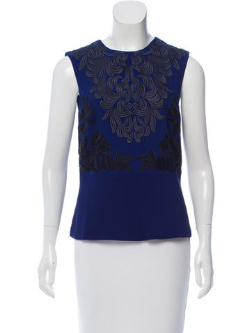 Stella McCartney Sleeveless Embroidered Top None