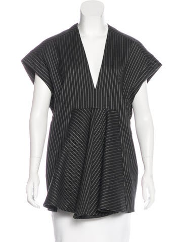 Stella McCartney Wool Pinstripe Tunic None