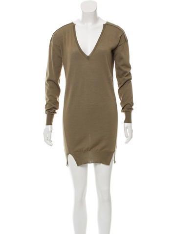 Stella McCartney Wool Rib Knit Sweater None