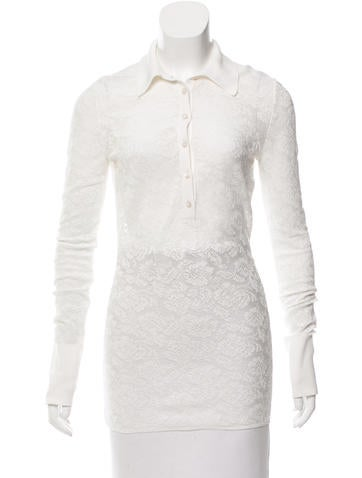 Stella McCartney Lace Long Sleeve Top None