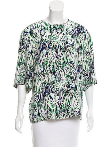 Stella McCartney Silk Abstract Print Top None