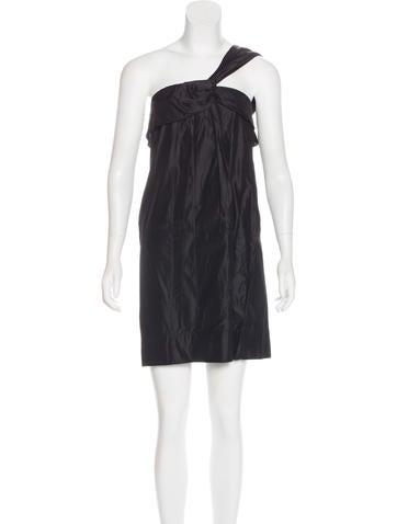 Stella McCartney Silk One-Shoulder Dress None