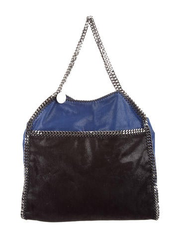 Stella McCartney Two-Tone Shaggy Deer Large Tote None
