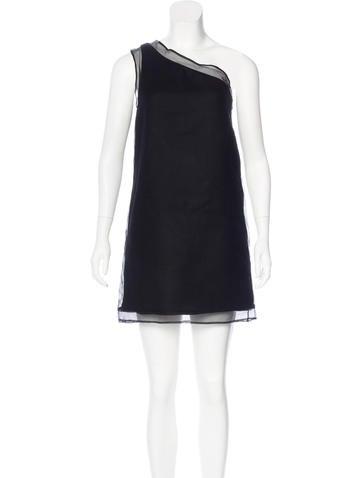 Stella McCartney One-Shoulder Wool Dress None