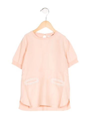 Stella McCartney Girls' Paneled Short Sleeve Top w/ Tags None