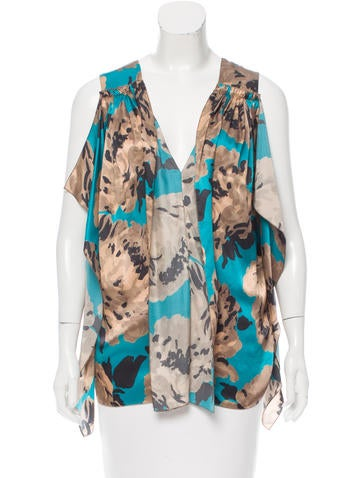 Stella McCartney Printed Silk Blouse None