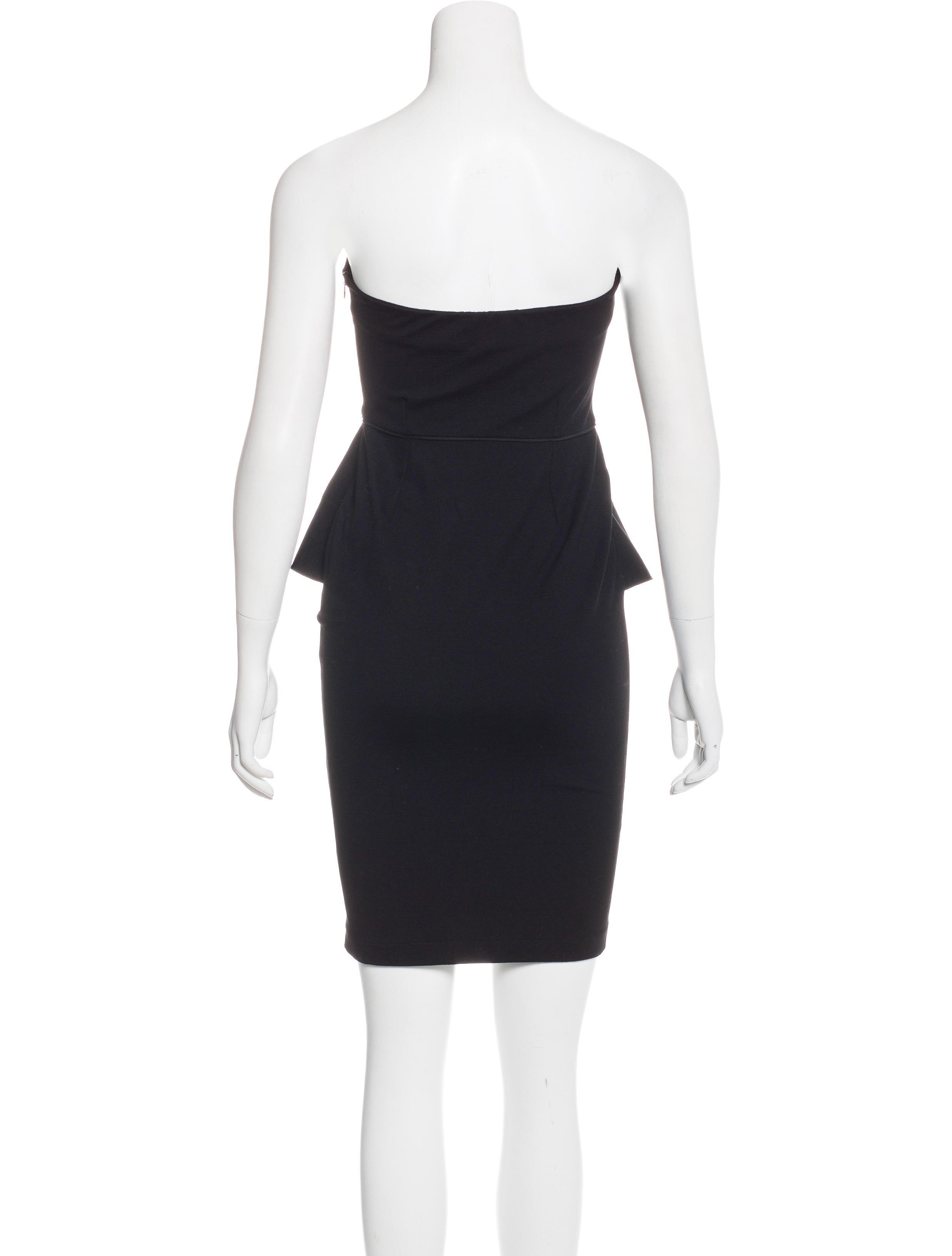 stella mccartney strapless peplum dress clothing