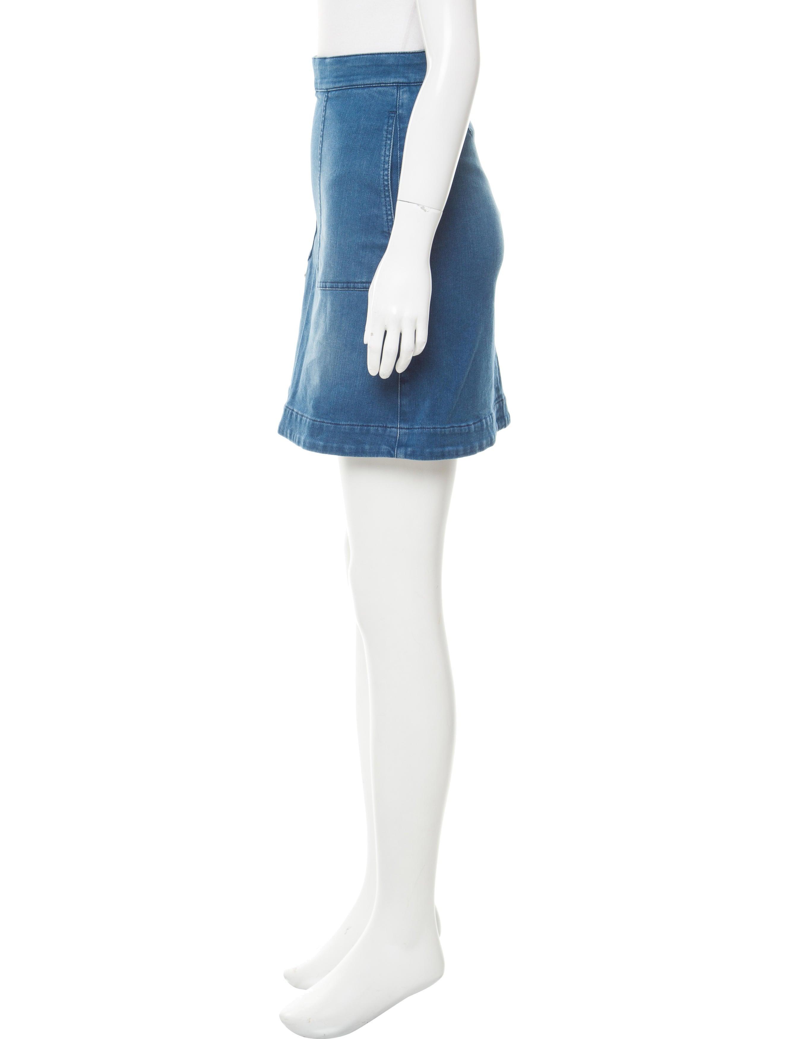 stella mccartney a line denim skirt clothing stl52566