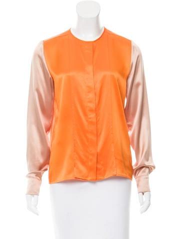Stella McCartney Colorblock Silk Top None
