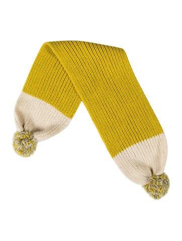 Stella McCartney Girls' Pom-Pom Knit Scarf None