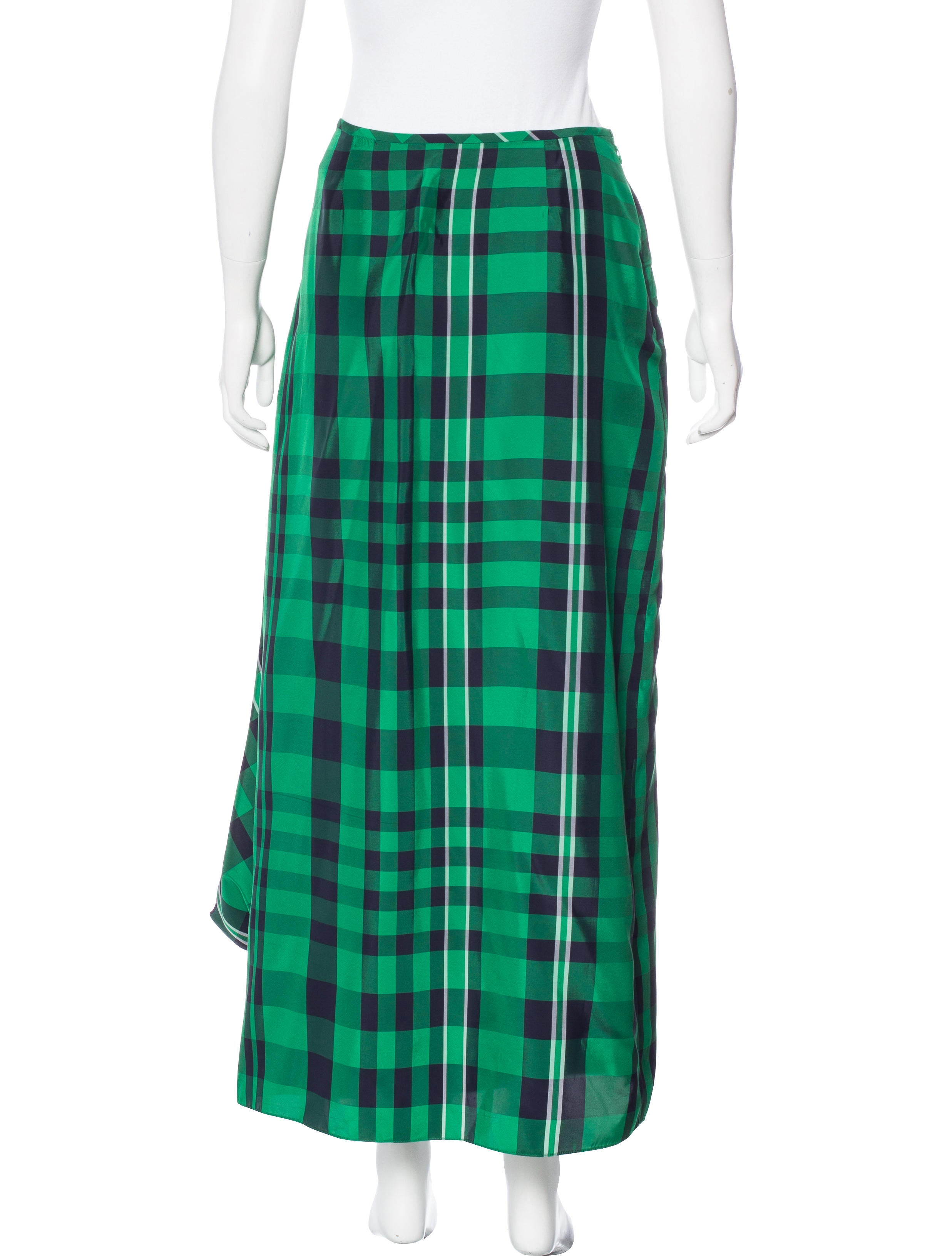 stella mccartney midi plaid skirt clothing stl52824