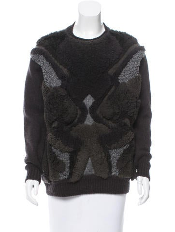 Stella McCartney Textured Crew Neck Sweater w/ Tags None