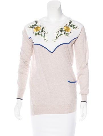 Stella McCartney 2016 Embroidered Sweater None