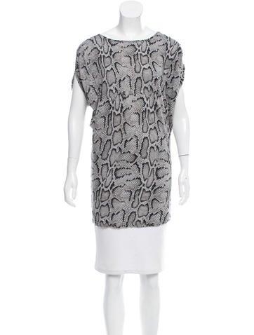 Stella McCartney Printed Short Sleeve Top None