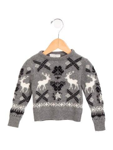 Stella McCartney Girls' Patterned Wool Sweater None