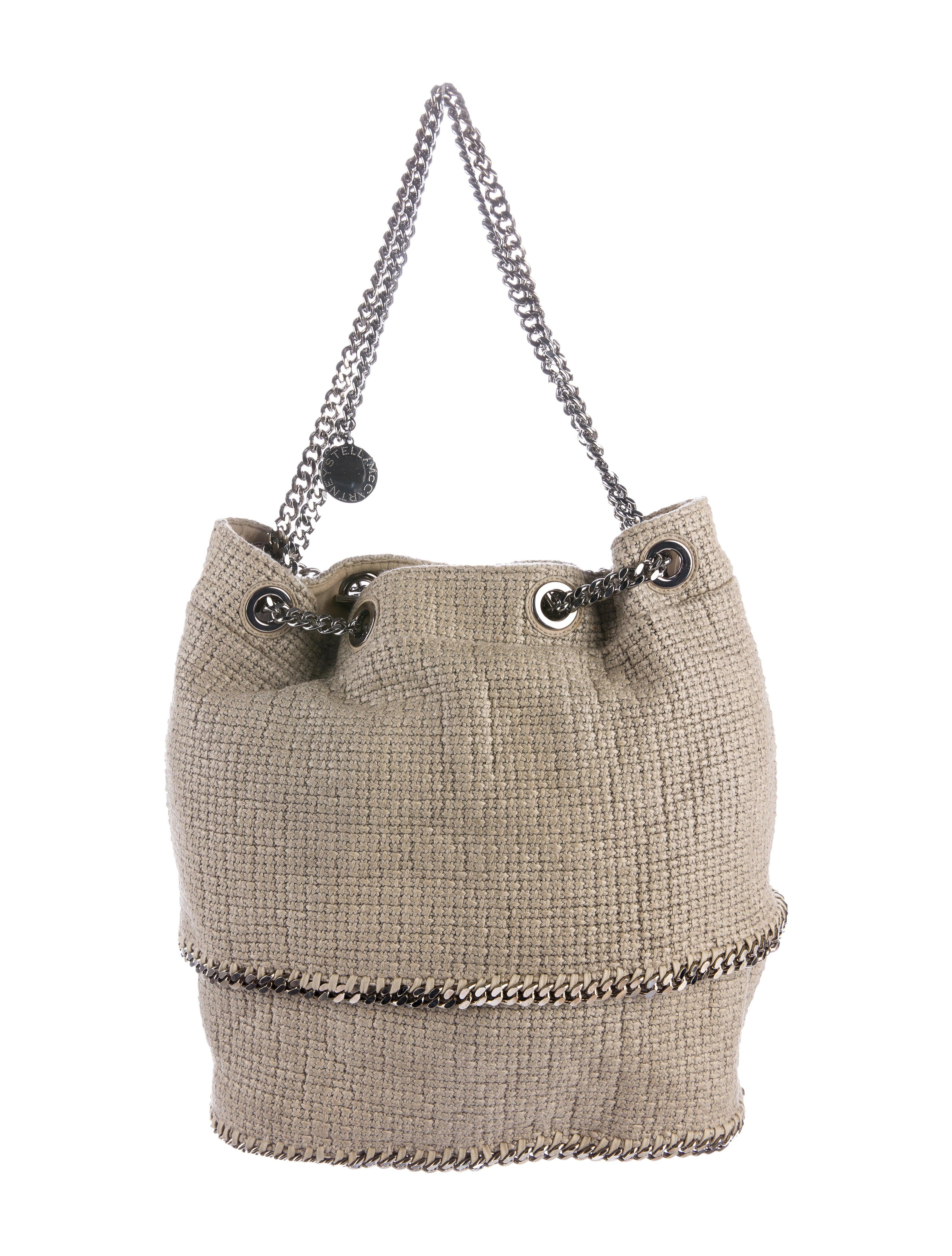 stella mccartney falabella woven tote handbags stl53277 the realreal. Black Bedroom Furniture Sets. Home Design Ideas