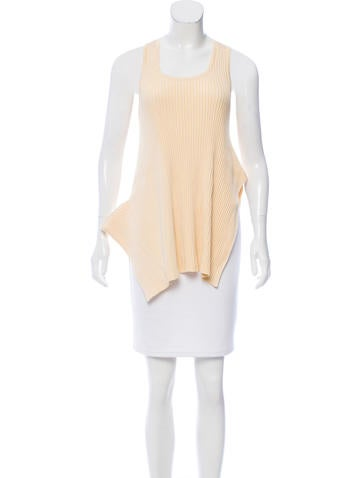 Stella McCartney Asymmetrical Knit Top None