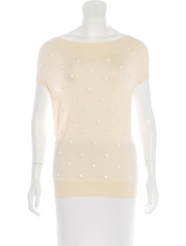 Stella McCartney Embellished Knit Top None