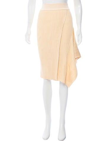 Stella McCartney Rib Knit Knee-Length Skirt None