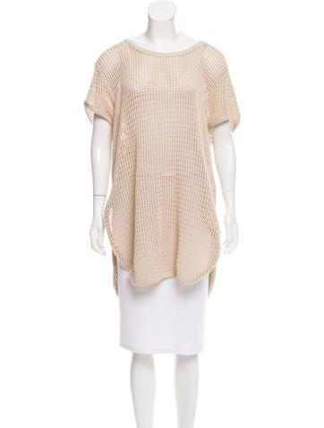 Stella McCartney Sleeveless Crochet Tunic None