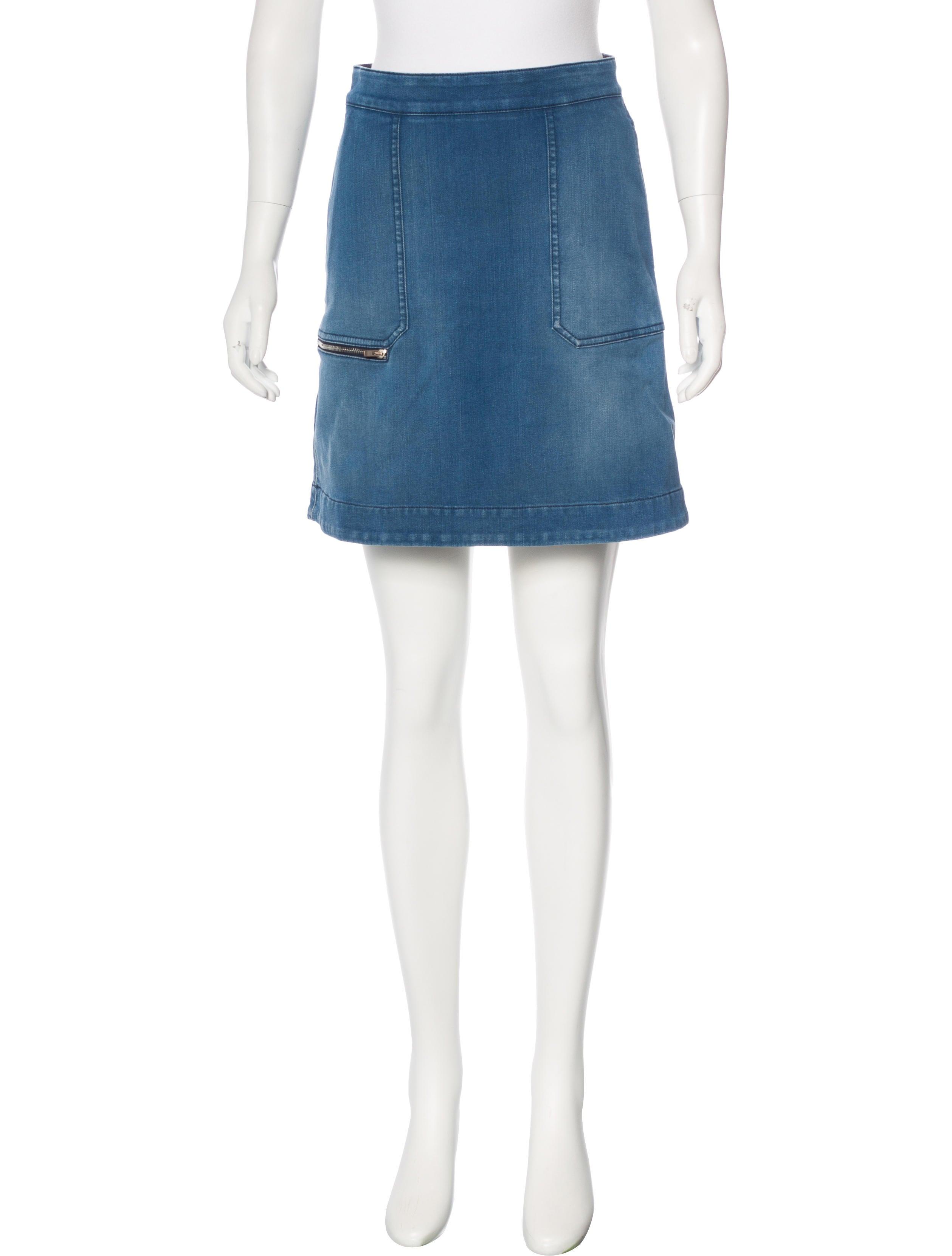 stella mccartney denim mini skirt clothing stl53735