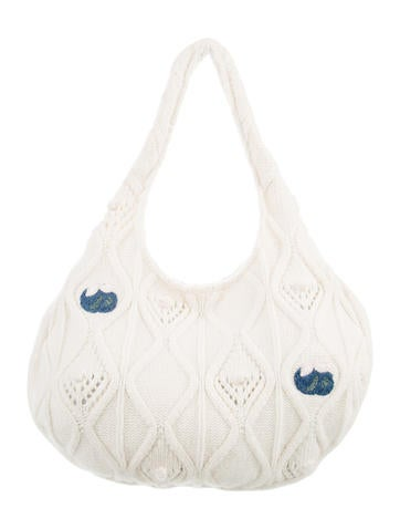 Stella McCartney Cable Knit Hobo w/ Tags None