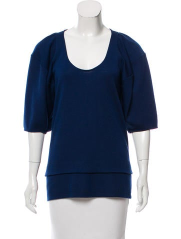Stella McCartney Tiered Wool Top None