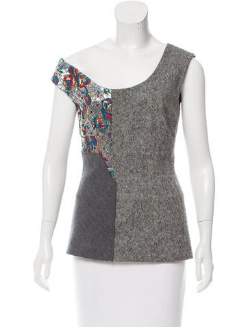 Stella McCartney Sleeveless Wool Top None