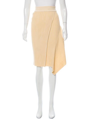 Stella McCartney Asymmetrical Rib Knit Skirt None