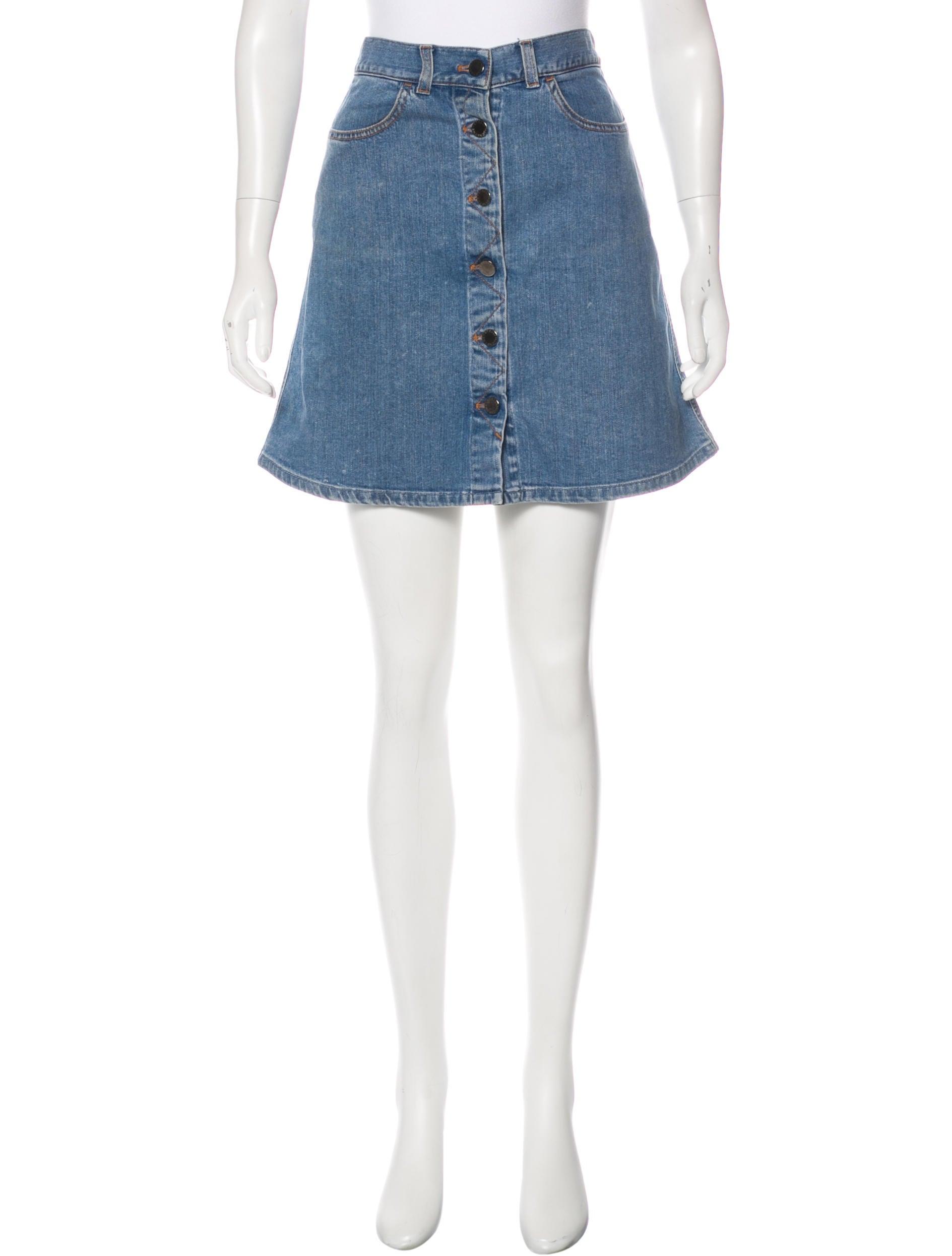 stella mccartney denim mini skirt clothing stl53939
